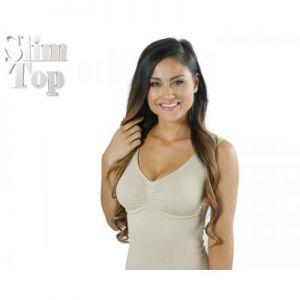 SLIM TOP BEIGE-Taille S